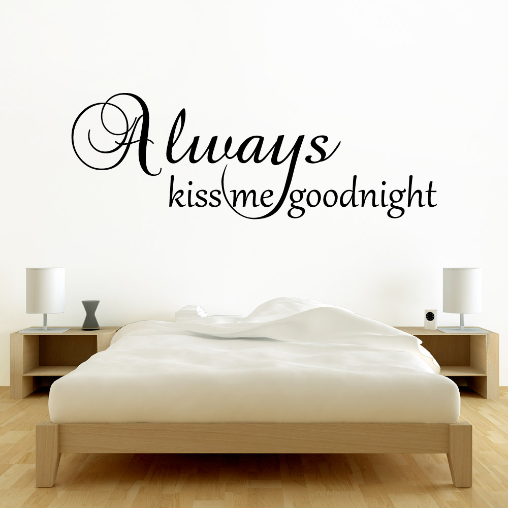 Image of   Always kiss me goodnight