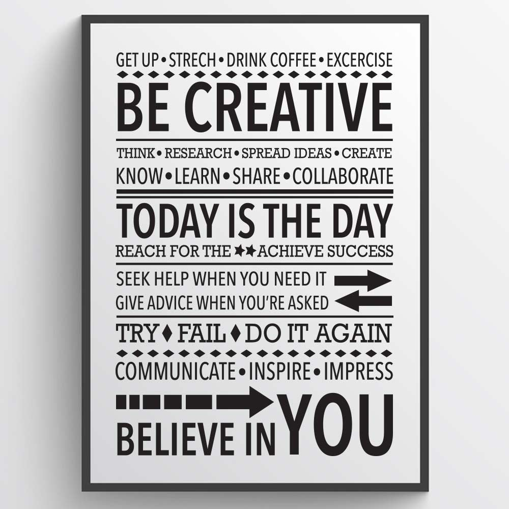 Image of   Be creative - Plakat