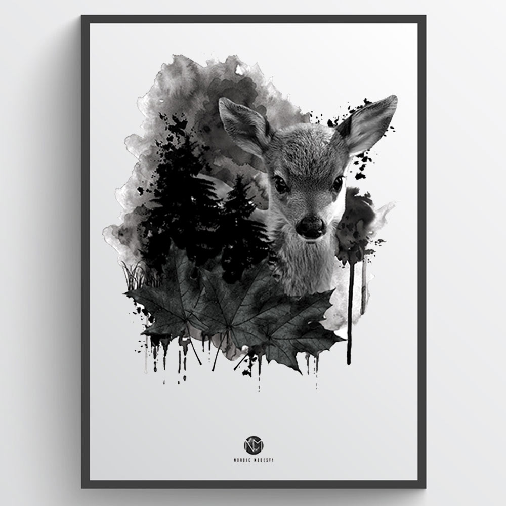 Forest deer - plakat