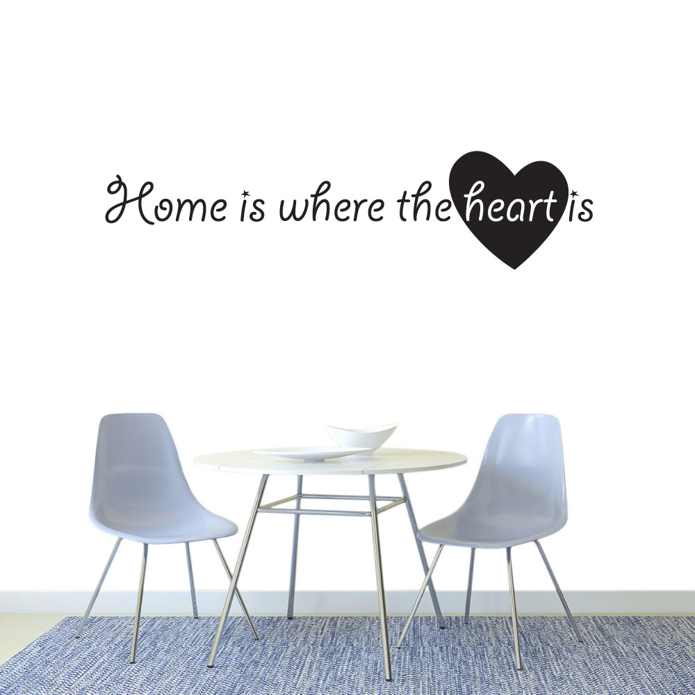 Image of   Home is where the heart is