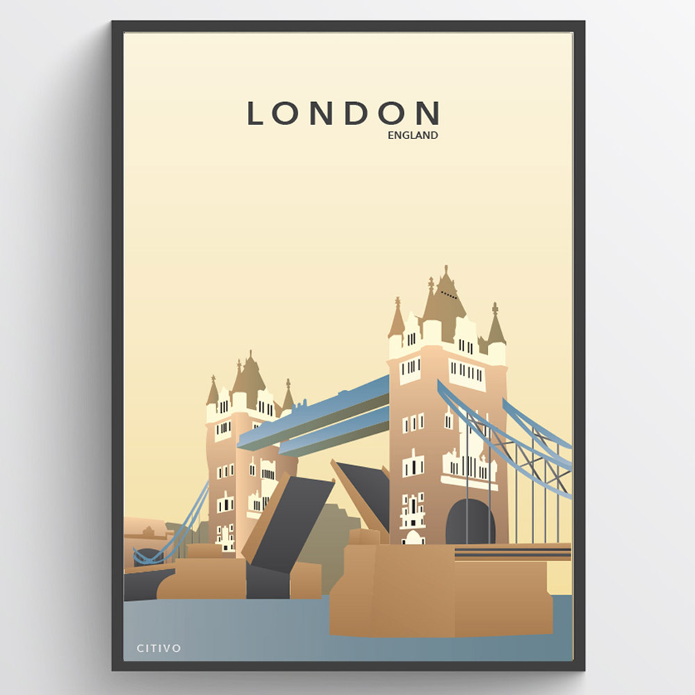 London - Tower Bridge - plakat