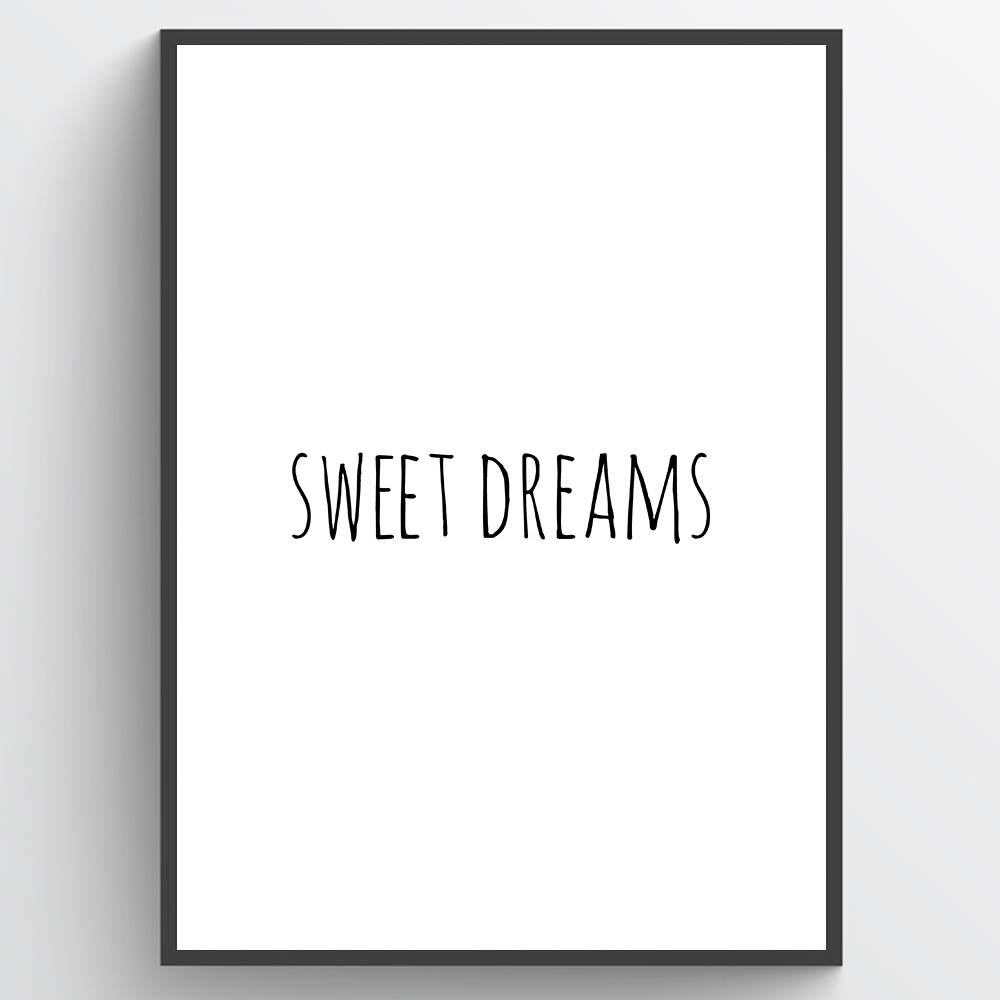 Image of #1 Sweet dreams plakat