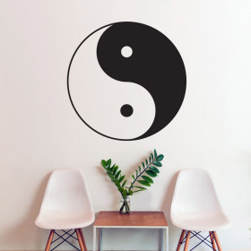 Yin and yang wallsticker