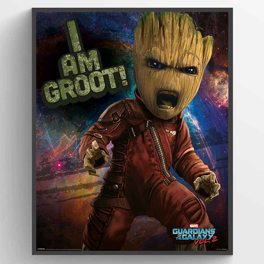 Guardians Of The Galaxy 2 - Angry Groot Plakat wallsticker