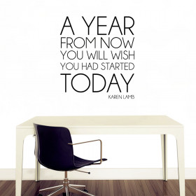 A year from now wallsticker