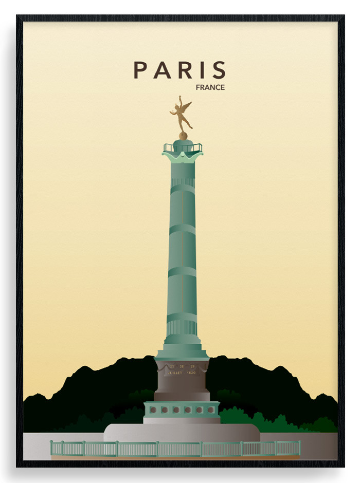 Paris Bastille Plakat wallsticker