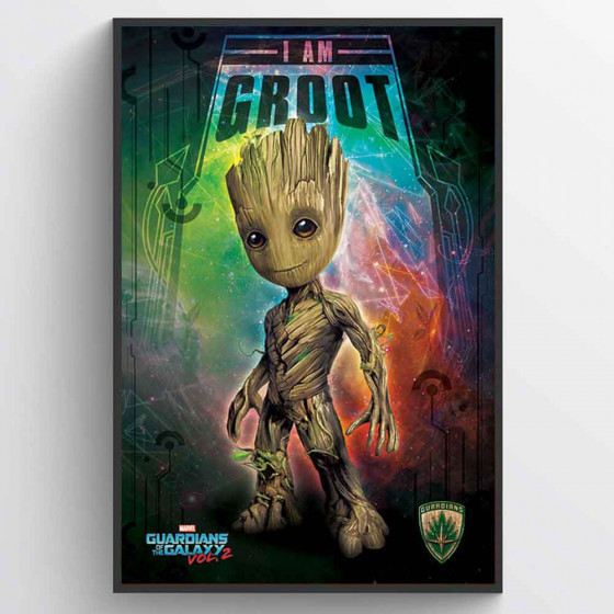 Guardians of the Galaxy 2 - I Am Groot Plakat wallsticker
