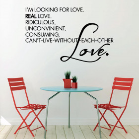 I'm looking for love wallsticker