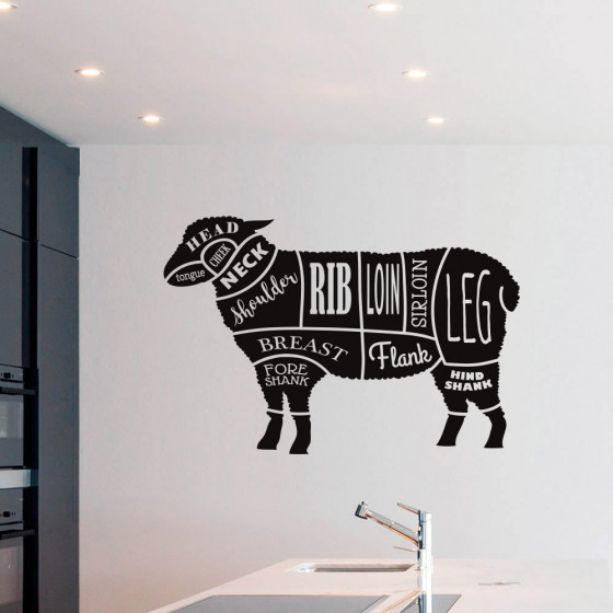 Lamb cuts wallsticker