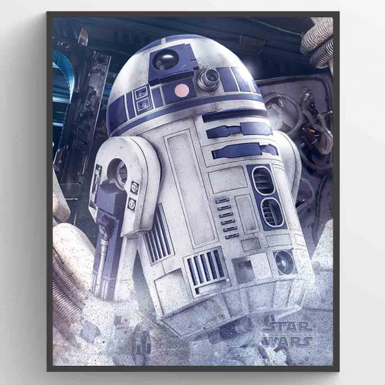 Star Wars The Last Jedi - R2-D2 Droid Plakat wallsticker