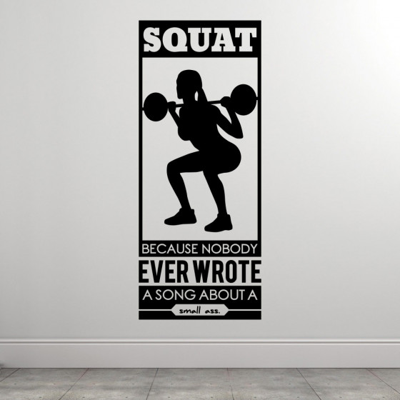 Squats wallsticker