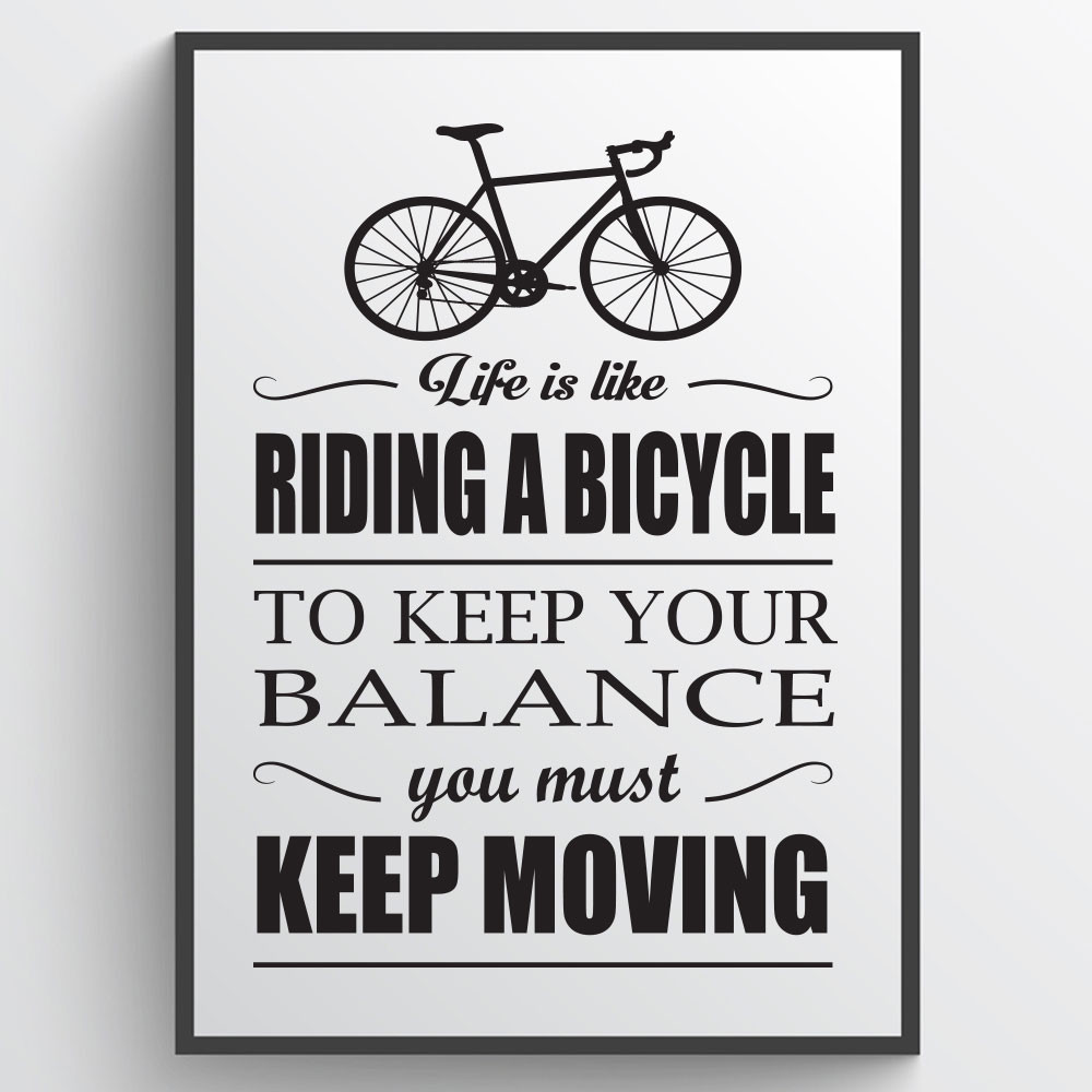 Riding a bicycle - Plakat wallsticker