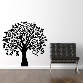 Træ med blade wallsticker wallsticker