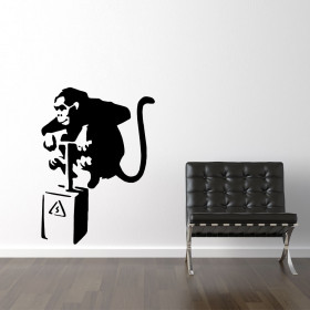 Banksy monket tnt detonator wallsticker wallsticker
