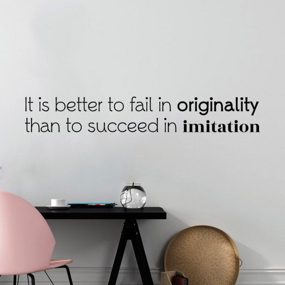 Fail in originality wallsticker