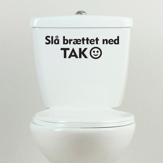 Slå brættet ned - tak wallsticker