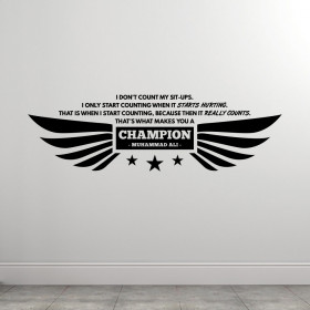 Muhammad Ali - Champion wallsticker