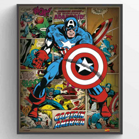Captain America Retro Plakat wallsticker