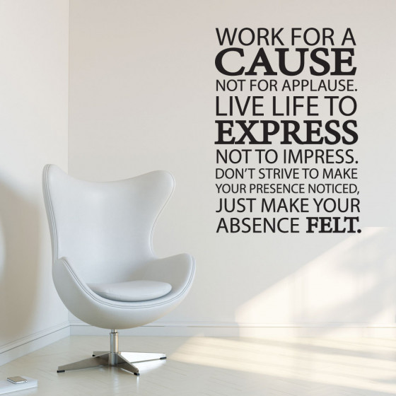 Work for cause wallsticker