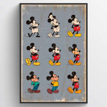Mickey Mouse Evolution Poster