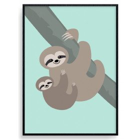 Sloth Mom Plakat wallsticker