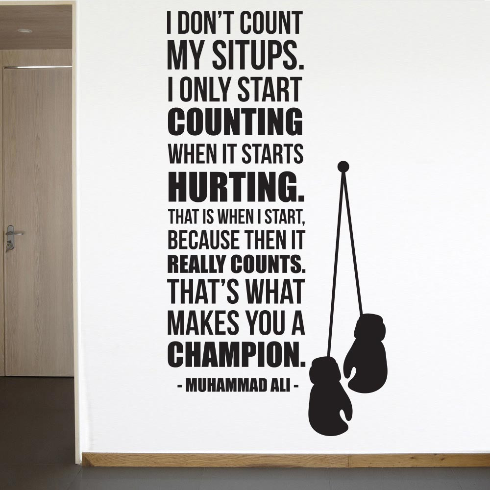 Muhammad Ali - Count when it hurts wallsticker