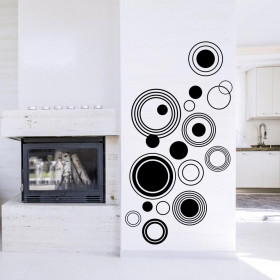Abstrakte cirkler wallsticker