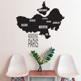 Nordens Paris wallsticker