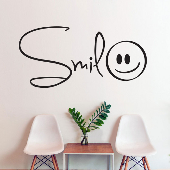 Smil wallsticker