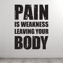 Pain is weakness