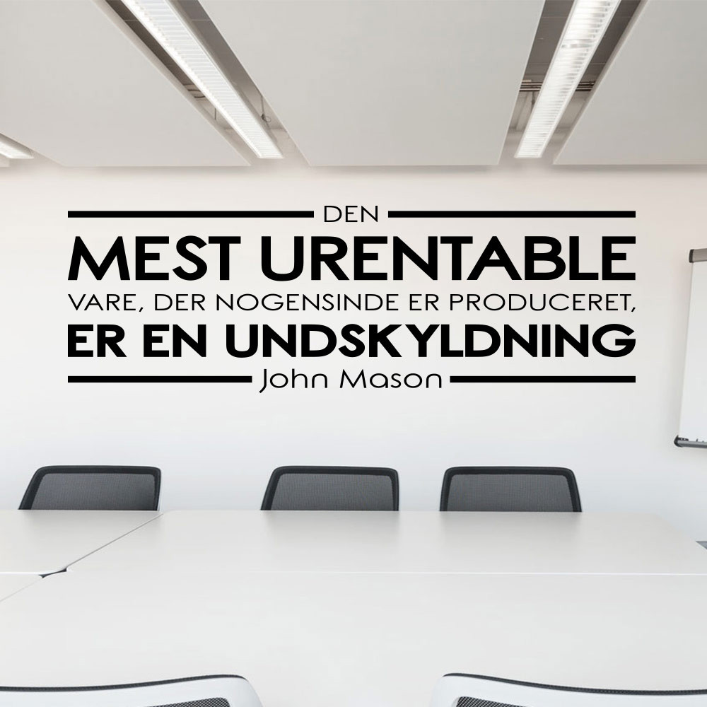 Den mest urentable vare wallsticker