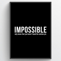 Impossible - plakat