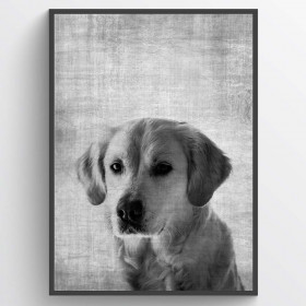 Texture dog plakat wallsticker