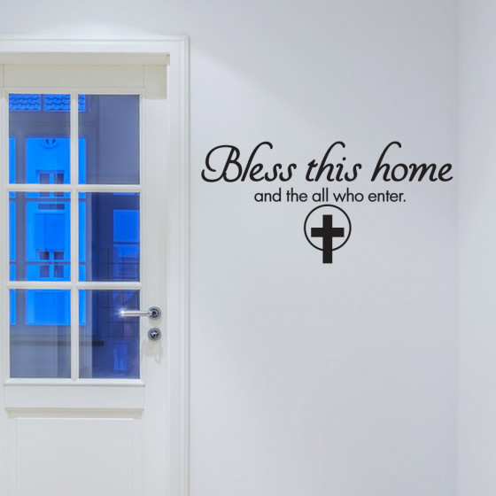 Bless this home wallsticker