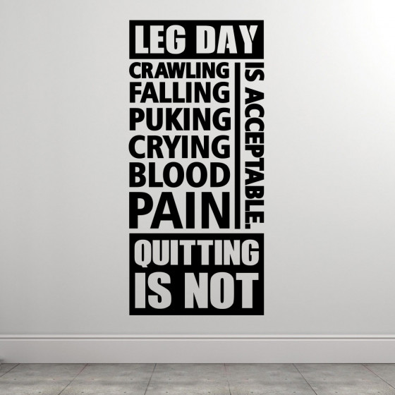 Leg day rules wallsticker