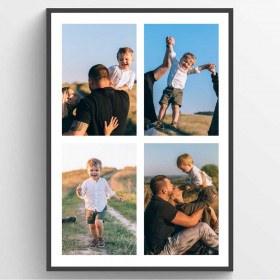 Plakat collage - 4 billeder wallsticker