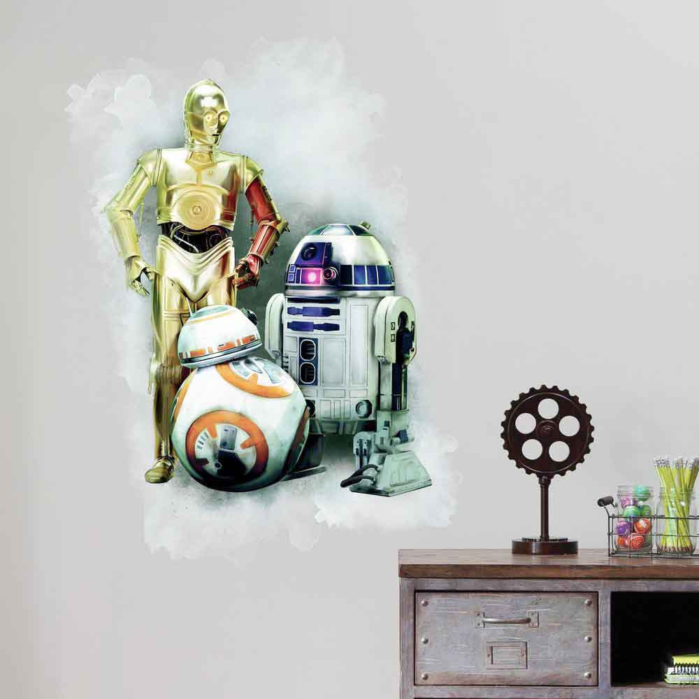 Star Wars - R2D2, C3PO & BB-8 wallsticker