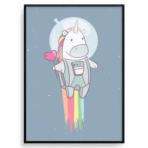 Space Unicorn Plakat