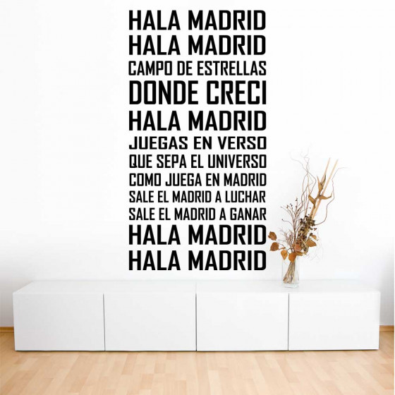 Hala Madrid! - Real Madrid C.F. wallsticker