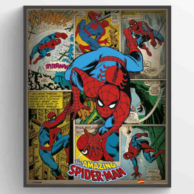 Marvel Comics (Spider-Man Retro) Plakat wallsticker