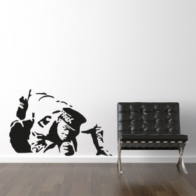 Sniffing cop - Banksy wallsticker