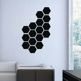 Poly abstract wallsticker