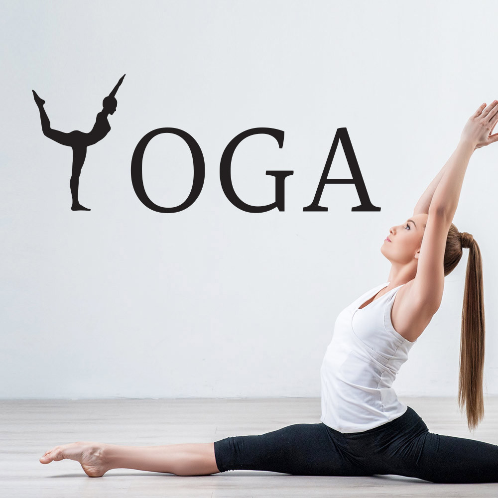 Yoga wallsticker