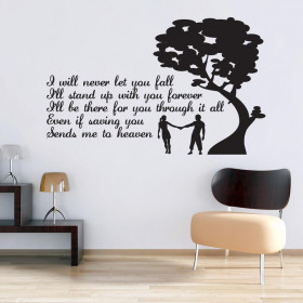I'll never let you fall wallsticker