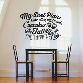 My diet plan wallsticker