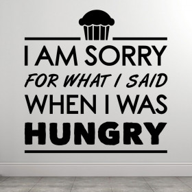 Hangry-cupcake wallsticker