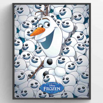Frozen Fever Olaf & Mini Olafs Plakat