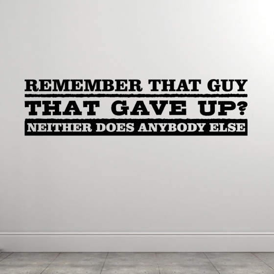 Remember That Guy wallsticker