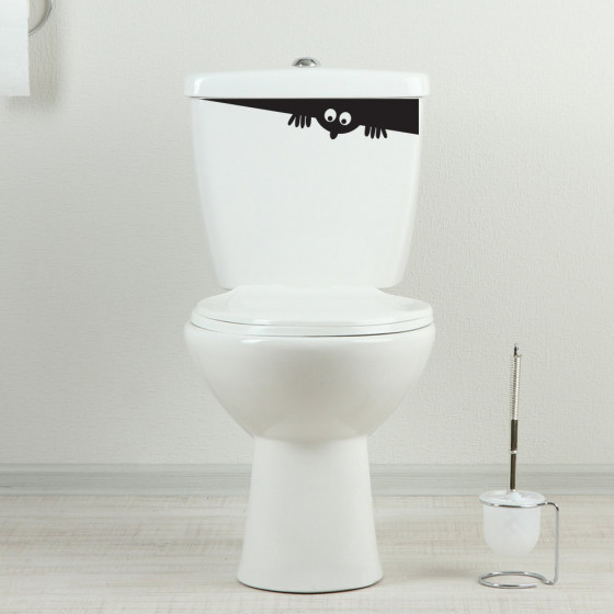 Toiletkiggeren wallsticker
