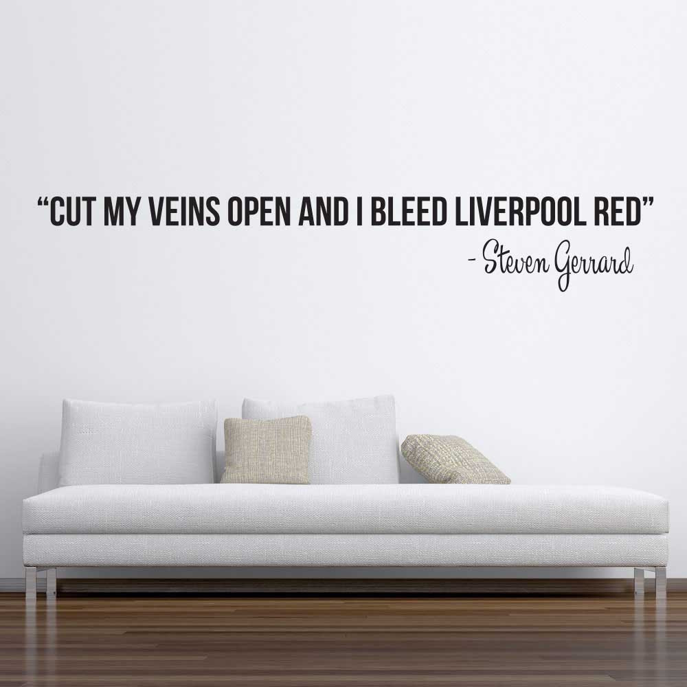 Cut my veins - Steven Gerrard wallsticker